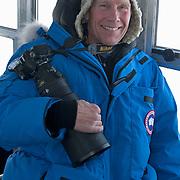 Dr Steven Amstrup on a Tundra Buggy.