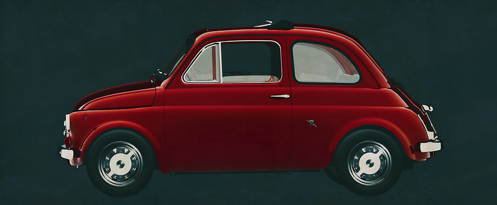 With the 1968 Fiat Abarth 595, Fiat launched a racing version of the famous Fiat 500. You wouldn't say it, but this small car, the Fiat Abarth 595, is a monster that shows many sports cars its rear lights. This painting of the 1968 Fiat Abarth 595 will certainly do its job as an eye-catcher.<br /> <br /> This painting of a Fiat Abarth 595 from 1968 can be printed very large on different materials. The work has a panoramic proportion and is very suitable to add a detail in a workspace, showroom or just at home that will impress your visitors. –<br /> <br /> BUY THIS PRINT AT<br /> <br /> FINE ART AMERICA<br /> ENGLISH<br /> https://janke.pixels.com/featured/fiat-abarth-595-from-1968-the-racing-version-of-the-fiat-500-jan-keteleer.html<br /> <br /> WADM / OH MY PRINTS<br /> DUTCH / FRENCH / GERMAN<br /> https://www.werkaandemuur.nl/nl/shopwerk/Fiat-Abarth-595-uit-1968/606097/132<br /> <br /> -