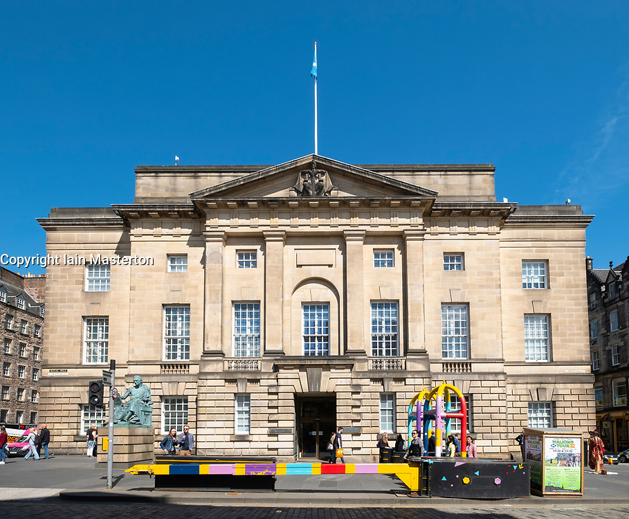 Exterior of the High Court of Justiciary on The Royal Mile in Edinburgh, Scotland UK