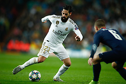 November 26, 2019, Madrid, MADRID, SPAIN: Isco Alarcon of Real Madrid during the UEFA Champions League football match, Group A, played between Real Madrid and Paris Saint-Germain at Santiago Bernabéu Stadium on November 26, 2019, in Madrid, Spain. (Credit Image: © AFP7 via ZUMA Wire)