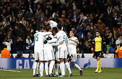 December 6, 2017 - Madrid, Spain - The Real Madrid team celebrate after Cristiano Ronaldo scored during the UEFA Champions League group H match between Real Madrid and Borussia Dortmund at Santiago Bernabéu. (Credit Image: © Manu_reino/SOPA via ZUMA Wire)