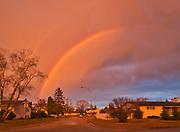 Rainbow after storm in Southdale Neigbourhood<br />Winnipeg<br />Manitoba<br />Canada