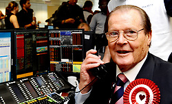 File photo dated 11/09/12 of Sir Roger Moore taking part in the annual BGC Partners charity day in London. Sir Roger has died in Switzerland after a short battle with cancer, his family has announced.