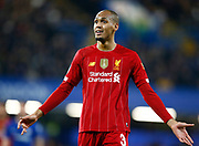 Liverpool's Fabinho during the English FA Cup fifth round soccer match between Chelsea and Liverpool at Stanford Bridge Stadium, Wednesday, March 3, 2020, in London, United Kingdom. (ESPA-Images/Image of Sport)
