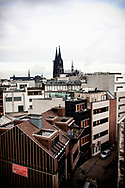 Europe, Germany, Cologne, the cathedral, view over roofs to the southern facade.<br /> <br /> Europa, Deutschland, Koeln, der Dom, Blick ueber Daecher zur Suedfassade.