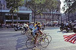 Tour De France on Champs Elysees.In Paris