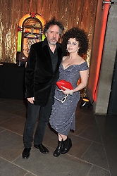 TIM BURTON and HELENA BONHAM-CARTER at A Night of Funk & Soul in aid of Save The Children held at The Roundhouse, Camden, London on 20th March 2013.