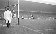All Ireland Senior Football Final Galway v. Dublin 22nd September 1963 Croke Park...Galway Goalie jumps - ball goes over bar for a point ..22.09.1963  22nd September 1963