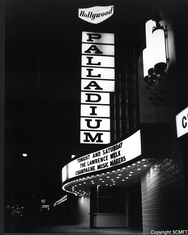 1961 The Hollywood Palladium marquee at night
