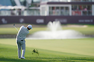 Jordan Smith (ENG) on the 18th fairway during the third round of the Omega Dubai Desert Classic, Emirates Golf Club, Dubai, UAE. 26/01/2019<br /> Picture: Golffile | Phil Inglis<br /> <br /> <br /> All photo usage must carry mandatory copyright credit (© Golffile | Phil Inglis)