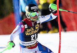 AERNI Luca of Switzerland competes during Men's Slalom - Pokal Vitranc 2014 of FIS Alpine Ski World Cup 2013/2014, on March 9, 2014 in Vitranc, Kranjska Gora, Slovenia. Photo by Matic Klansek Velej / Sportida