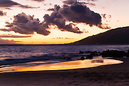 This always gorgeous beach starts the strip of beautiful south Kihei beaches. Sunsets are often picturesque.
