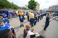 Football - 2014 / 2015 Premier League - Chelsea vs. Sunderland.   <br /> <br /> Stamford the mascot dances to the music of the Chelsea Marching Band ahead of the game<br /> <br /> COLORSPORT/DANIEL BEARHAM