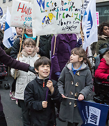 Westminster, London, March 23rd 2016. Hundreds of teachers converge on Westminster and march from Westminster Cathedral to a rally at the Emmanuel Centre in protest against Education Secretary Nicky Morgan's plan to convert all schools into academies. ©Paul Davey<br /> FOR LICENCING CONTACT: Paul Davey +44 (0) 7966 016 296 paul@pauldaveycreative.co.uk