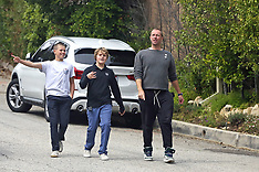 Chris Martin out with his son Moses - 13 April 2020