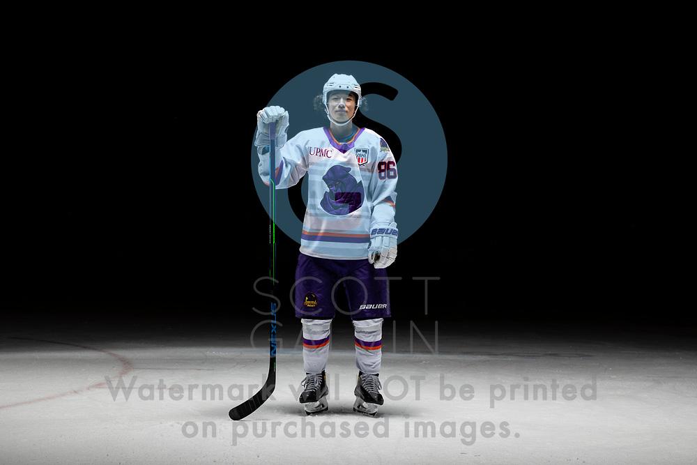 Youngstown Phantoms player photo shoot on April 14, 2021. <br /> <br /> Kenta Isogai, forward, 86