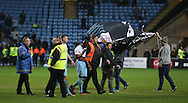 Players leave the pitch as Coventry fans invade the pitch during the English League One match at the Rioch Arena Stadium, Coventry. Picture date: December 15th, 2016. Pic Simon Bellis/Sportimage