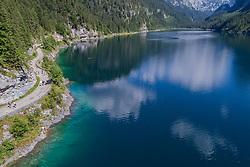 Luftaufnahme von Gosausee, Oesterreich / Aerial View from Gosausee, Lake Gosau, Austria