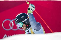 18.12.2016, Grand Risa, La Villa, ITA, FIS Ski Weltcup, Alta Badia, Riesenslalom, Herren, 2. Lauf, im Bild Cyprien Sarrazin (FRA) // Cyprien Sarrazin of France reacts after his 2nd run of men's Giant Slalom of FIS ski alpine world cup at the Grand Risa race Course in La Villa, Italy on 2016/12/18. EXPA Pictures © 2016, PhotoCredit: EXPA/ Johann Groder