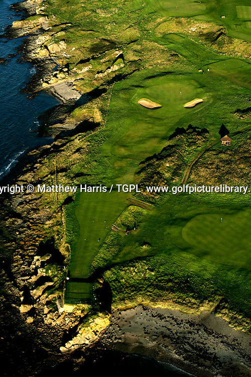 TURNBERRY (Ailsa Course) 11th par 3 aerial view during summer 2008,Turnberry,Aryshire,Scotland.