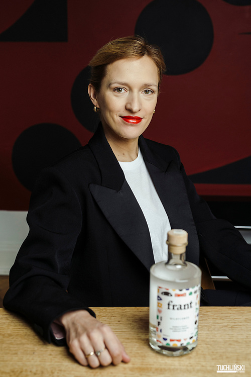 """14.02.2019 Warszawa. Dorota Zylewicz twórca wódki """"Frant""""<br /> Fot. Adam Tuchlinski dla Forbes"""