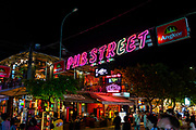 Image of night life in and near Pub Street, Siem Reap, Cambodia.