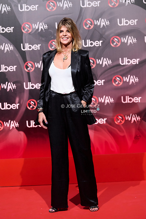 Arancha de Benito attends 'Wah' Musical Show World Premiere Red Carpet at IFEMA on October 7, 2021 in Madrid, Spain