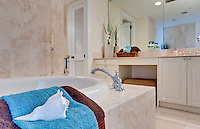 View on modern bathroom decorated