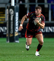 Elliot Dee of Dragons<br /> <br /> Photographer Simon King/Replay Images<br /> <br /> Guinness PRO14 Round 10 - Dragons v Leinster - Saturday 1st December 2018 - Rodney Parade - Newport<br /> <br /> World Copyright © Replay Images . All rights reserved. info@replayimages.co.uk - http://replayimages.co.uk