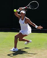 Tennis - 2017 Wimbledon Championships - Week One, Wednesday [Day Three]<br /> <br /> Women's Singles, Second Round match<br /> Heather Watson (GBR) vs Anastasija Sevastova (LAT) <br /> <br /> Heather Watson  on Court 2<br /> <br /> COLORSPORT/ANDREW COWIE