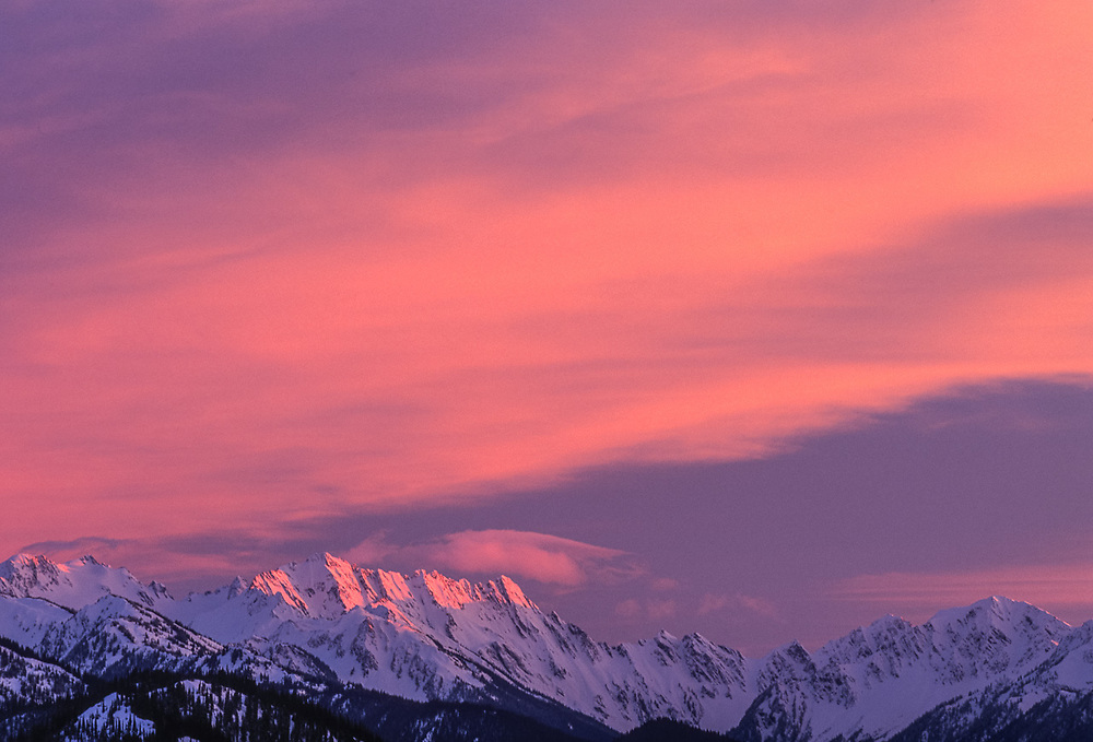 Mount Anderson, evening light, Olympic National Park, Washington, USA