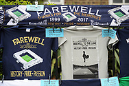Tottenham Hotspur memorabillia outside the stadium. English Premier League match at the White Hart Lane Stadium, London. Picture date: April 30th, 2017.Pic credit should read: Robin Parker/Sportimage
