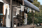 clothing hanging to dry outside Japan