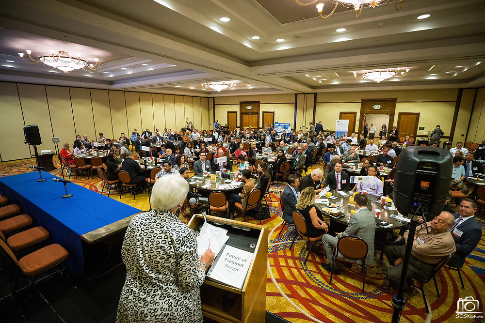 Attendees socialize during the Silicon Valley Business Journal's Future of Fremont event at Fremont Marriott Silicon Valley in Fremont, California, on June 18, 2019.  (Stan Olszewski for Silicon Valley Business Journal)
