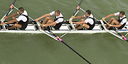 Seville, Andalusia, SPAIN<br /> <br /> 2002 World Rowing Championships - Seville - Spain Sunday 15/09/2002.<br /> <br /> Rio Guadalquiver Rowing course<br /> <br /> NZL M4-  Bow. Rob HELLSTROM, Dave WADDELL,  Sam EARL and Ian SMALLMAN.<br /> <br /> [Mandatory Credit:Peter SPURRIER/Intersport Images]