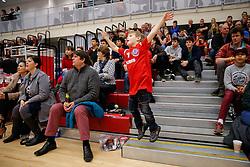 The crowd celebrates - Photo mandatory by-line: Rogan Thomson/JMP - 07966 386802 - 13/02/2015 - SPORT - BASKETBALL - Bristol, England - SGS Wise Arena - Bristol Flyers v Surrey United - BBL Championship.