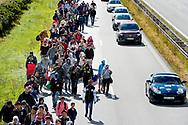 Mandag d. 7. september indvaderede knap 200 flygtninge Sydmotorvejen ved Rødby og begyndte den lange vandring mod Sverige. Flygtningene var forinden hevet af toget fra Tyskland på Rødby Havn Station.