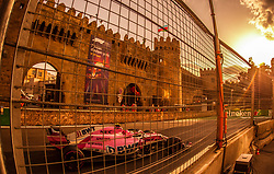 April 28, 2018 - Baku, Azerbaijan - Esteban Ocon of France and Sahara Force India driver goes during the qualifying session at Azerbaijan Formula 1 Grand Prix on Apr 28, 2018 in Baku, Azerbaijan. (Credit Image: © Robert Szaniszlo/NurPhoto via ZUMA Press)