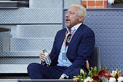 May 13, 2018 - Madrid, Madrid, Spain - Former German player Boris Becker attends day nine of the Mutua Madrid Open tennis tournament at the Caja Magica on May 13, 2018 in Madrid, Spain  (Credit Image: © David Aliaga/NurPhoto via ZUMA Press)