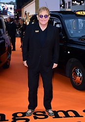 Elton John attending the World Premiere of Kingsman: The Golden Circle, at Cineworld in Leicester Square, London. Picture Date: Monday 18 September. Photo credit should read: Ian West/PA Wire