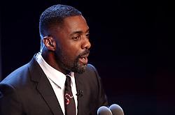 Host Idris Elba on stage during the Best FIFA Football Awards 2017 at the Palladium Theatre, London.