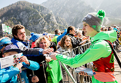 Domen Prevc of Slovenia with fans after the Ski Flying Hill Men's Team Competition at Day 3 of FIS Ski Jumping World Cup Final 2017, on March 25, 2017 in Planica, Slovenia. Photo by Vid Ponikvar / Sportida
