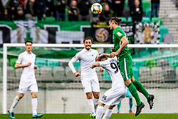 Mujcic Mirza of NK Olimpija Ljubljana vs Rijad Kobiljar of NK Rudar Velenje during football match between NK Olimpija Ljubljana and NK Rudar Velenje in 25rd Round of Prva liga Telekom Slovenije 2018/19, on April 7th, 2019 in Stadium Stozice, Slovenia Photo by Matic Ritonja / Sportida