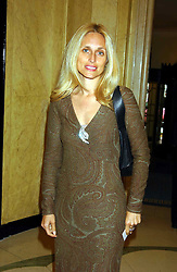PIA GETTY sister of Princess Marie Chantal of Greece  at a lunch and fashion show by Bruce Oldfield in aid of Barnados and held at Claridges, Brook Street, London W1 on 22nd September 2004.<br /><br />NON EXCLUSIVE - WORLD RIGHTS