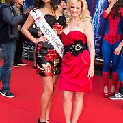 NLD/Amsterdam/20140422 - Premiere The Amazing Spiderman 2, Monique Sluyter en Miss Nederland