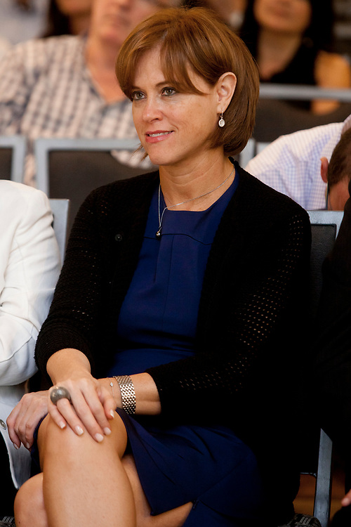 Rakefet Russak-Aminoach, CEO of Israel's Bank Leumi, attends the annual Accountant General convention in Jerusalem, Israel, on June 26, 2012.