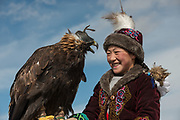 Kazakh eagle huntresses<br /> Mongolia's largest ethnic minority<br /> in Altai Mountains<br /> Western Mongolia