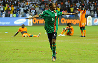 Fotball , 12. februar 2012 finale Afrika-mesterskapet<br /> Zambia - Elfenbenskysten<br /> Joie de Daves Nkausu - Zambie Football : Zambie / Cote d Ivoire - Finale - Coupe d Afrique des Nations<br /> <br /> Norway only