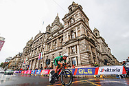 Time Trial Men 45,7 km, Ryan Mullen (Irland) during the Road Cycling European Championships Glasgow 2018, in Glasgow City Centre and metropolitan areas Great Britain, Day 7, on August 8, 2018 - photo Luca Bettini / BettiniPhoto / ProSportsImages / DPPI<br /> - restriction - Netherlands out, Belgium out, Spain out, Italy out