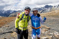 16-09-2017 FRA: BvdGF Tour du Mont Blanc day 7, Beaufort<br /> De laatste etappe waar we starten eindigen we ook weer naar een prachtige route langs de Mt. Blanc / Alberto en Eelco